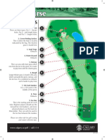 Golf Tip Sheet