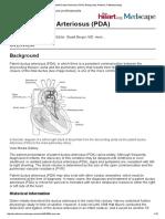Patent Ductus Arteriosus PDA Background Anatomy Pathophysiology