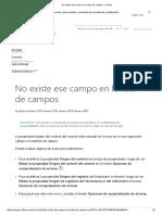 No Existe Ese Campo en La Lista de Campos - Access