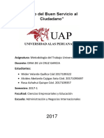 Informe Universidad Peruana