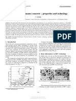 Ultra-high Performance Concrete Properties and Technology
