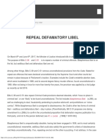 Repeal Defamatory Libel _ Centre for Free Expression