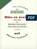 FOUCAULT Dits Et Ecrits Tome 1