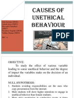 Causes of Unethical Behaviour