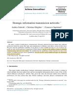 strategic information transmission networks