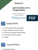 2.1.3 Raspando Dados Com o Google Sheets