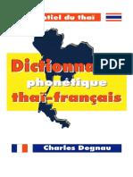 DEGNAU Dictionnaire Phonétique Thaï Français