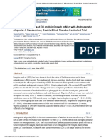 Effect of Pumpkin Seed Oil on Hair Growth in Men With Androgenetic Alopecia_ a Randomized, Double-Blind, Placebo-Controlled Trial