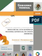 Infeccion Del Sitio Quirurgico Insicional Superficial en Ciruguia Abdominal
