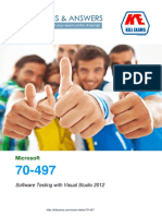 Pass4sure 70-497 Software Testing with Visual Studio exam braindumps with real questions and practice software.