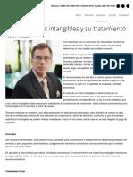 Los Activos Intangibles y Su Tratamiento Fiscal