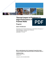 Thermal Impact of Fasteners in Wood Walls_Christensen 2011 NREL