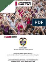 ASPECTOS JURÍDICOS, TÉCNICOS Y DE PROCEDIMIENTO DEL PROCESOS DE REVISIÓN Y AJUSTE DE POT