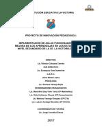 Proyecto Aulas Funcionales 2017 IE La Victoria Nivel Secundario Pichari VRAE