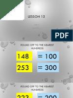 Math 3 Week 5- Lesson 15