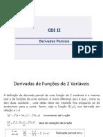 CDI II - Derivadas Parciais