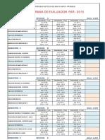 Cronograma Examenes 2015 PAR