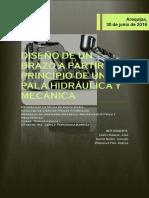 Diseño de Un Brazo a Partir Del Principio de Una Pala Hidráulica y Mecánica - Informe
