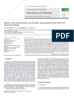 Isolation and Characterization of Proteolytic Microorganisms From Fresh and Fermented Cabbage