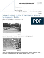 Cojinetes de La Pluma, Del Brazo, Del Cucharón y de Los Cilindros de La Retroexcavadora - Lubricar