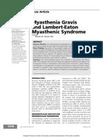 Myasthenia Gravis and Lambert-Eaton Myasthenic Syndrome - Continuum December 2016