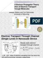 Electron Transport Through Molecules Kletsov Sh