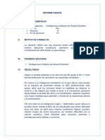 Informe Grupal de Inteligencias Multiples