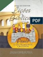 Manual Do Diretor_Roma - Paulo e Os Primeiros Cristãos_Escola Cristã de Férias_2017