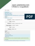 Examen PArcial Admon y Gestion Publica