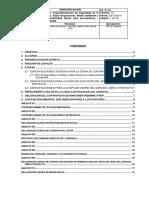 AL-E-01 Especificaciones de STSOMARS