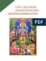 Sathyanarayana pooja sponsorship.docx