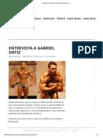 Entrevista a Gabriel Ortiz - Musculacao