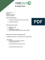 Ficha Etologica