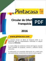 Presentacion Aspirante a Franquicia Pintacasa 2016