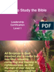 How to Study the Bible Version.lvl1