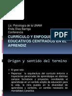Currículo y Enfoques Educativos Centrados en El Aprendiz