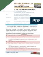 INFORME N° 32 APROBACION DE EXPEDIENTE TECNICO