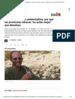 Las Razones de Un Ambientalista_ Por Qué Las Provincias Mineras _no Están Mejor_ Que Mendoza - MDZ Online