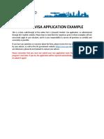 Visa Application Example - CAN 2017
