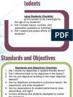 rubric indicators - checklist