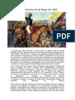 Batalla de Pichincha 24 de Mayo de 1822