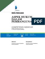 Modul Aspek Hukum Dalam Pembangunan [TM15]