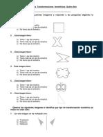 Guía Evaluada de Geometría Transformaciones Isométricas Quinto Año