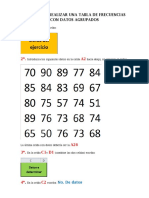 Pasos Para Realizar Una Tabla de Frecuencias Con Datos Agrupados