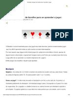 10 Tipos de Jogos de Baralho