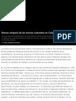 Breves sinapsis de las teorías culturales en Cuba