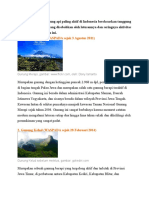 Berikut Adalah 10 Gunung API Paling Aktif Di Indonesia
