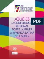 Que Es La Conferencia Regional Sobre La Mujer de America Latina y El Caribe Ver Oct2016