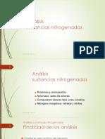 Determinación de Sustancias Nitrogenadas
