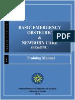 BEmONC -Training Manual -2013 April -Final